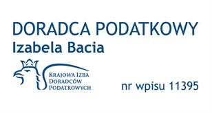 Doradca Podatkowy - Izabela Bacia - nr wpisu 11395